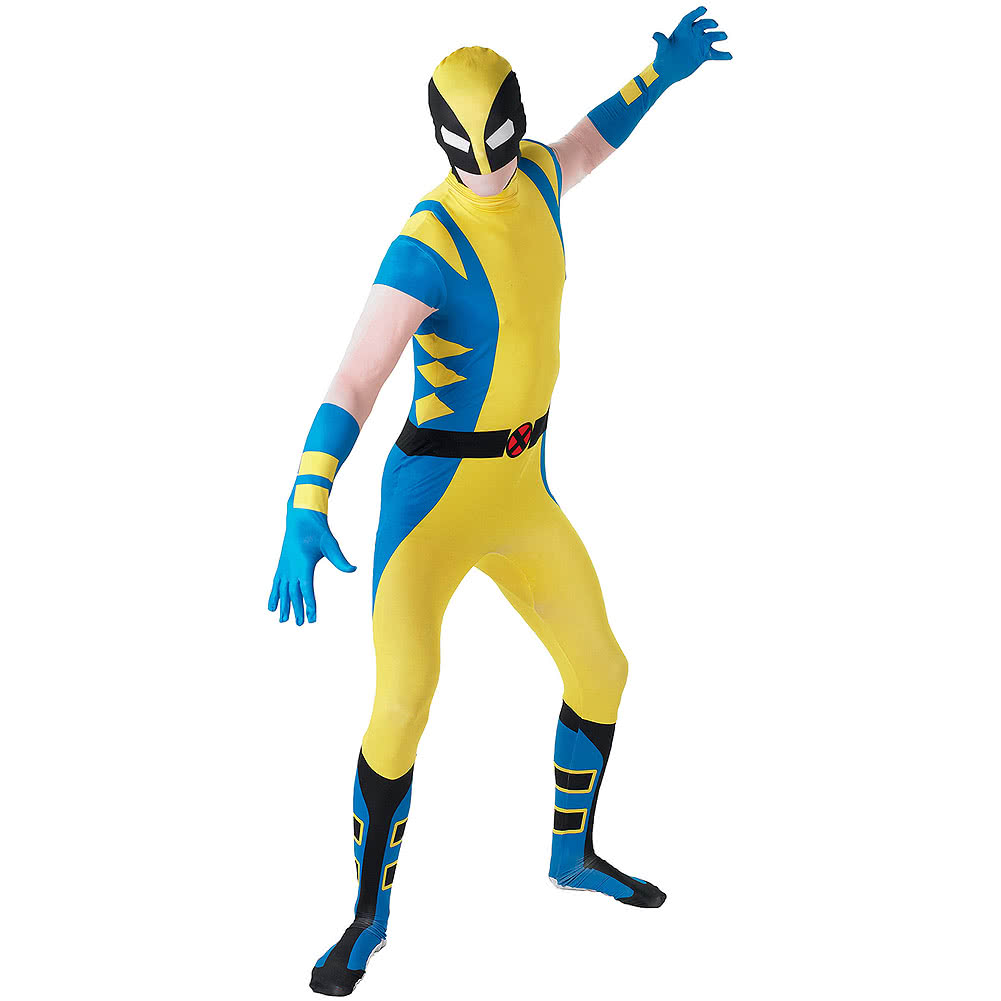 Rubies Second Skin Wolverine Costume (Yellow/Blue/Black)  sc 1 st  Blue Banana & Rubies Second Skin Wolverine Jumpsuit