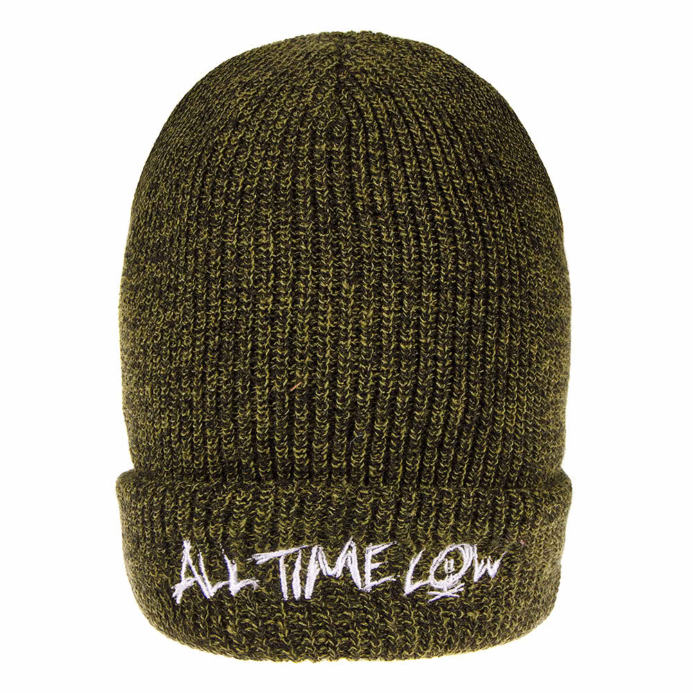 Official All Time Low Logo Beanie (Green)