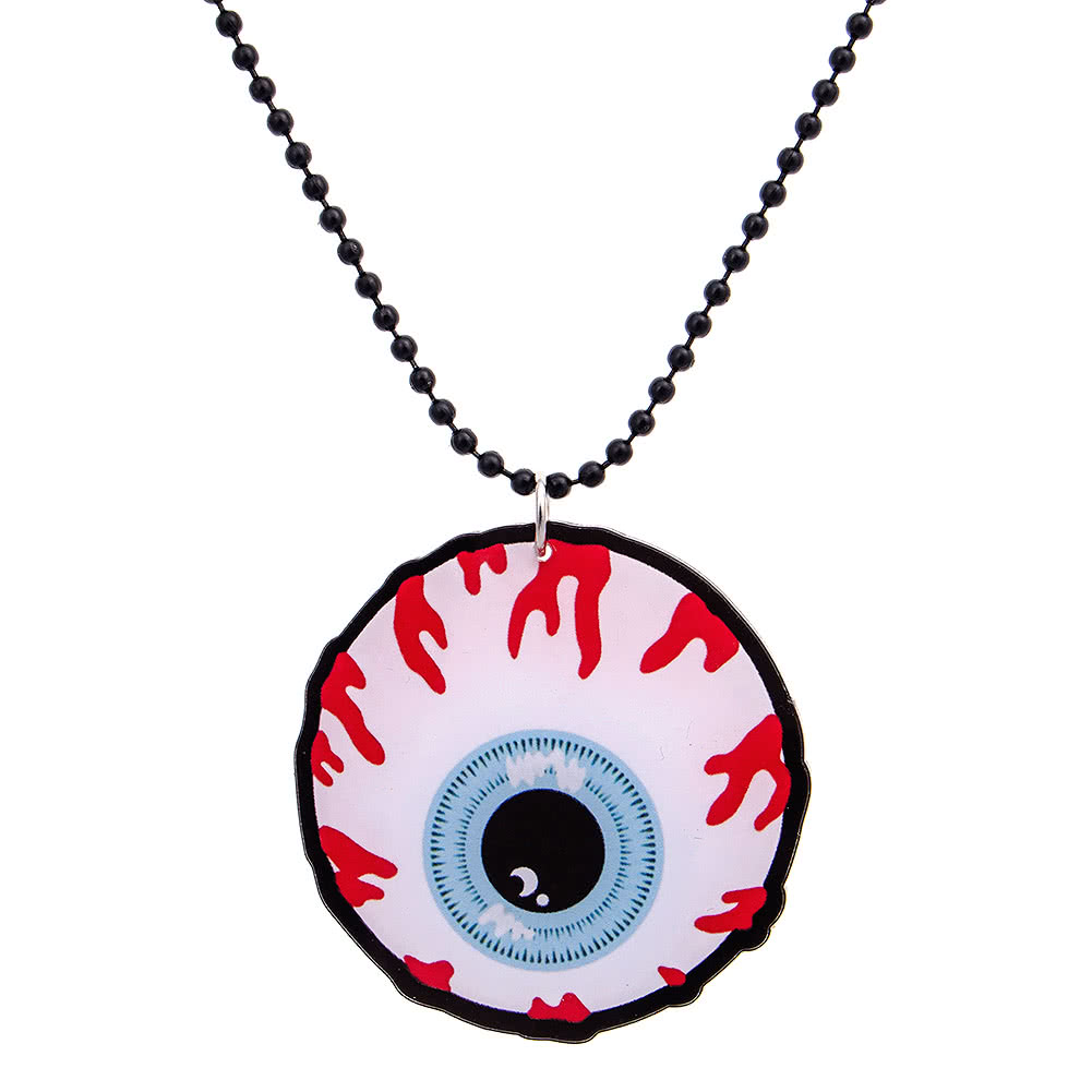 sale halloween necklace scribe pinterest art pin glass eyeball