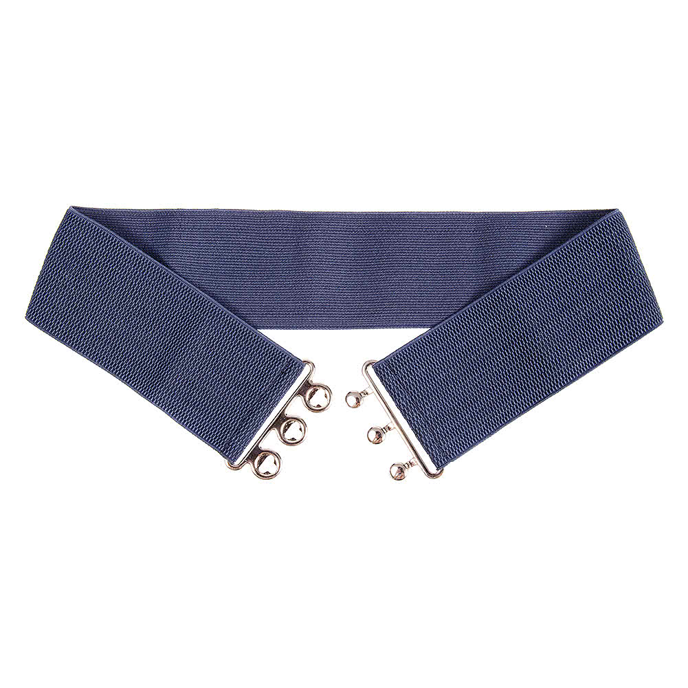 "Blue Banana Stretch 3 Clasp 3"" Belt (Navy)"