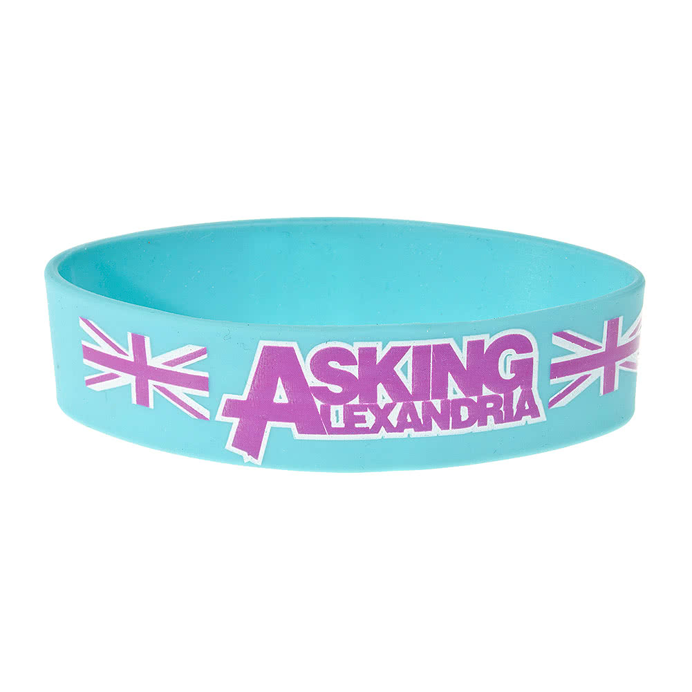 Official Asking Alexandria Aqua Blokes Wristband (Blue)