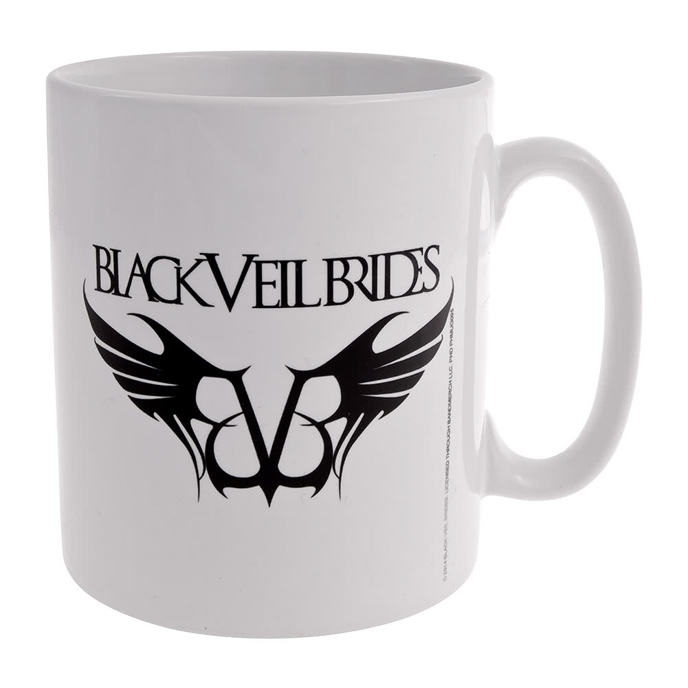 Official Black Veil Brides Rebels Logo Mug (White)