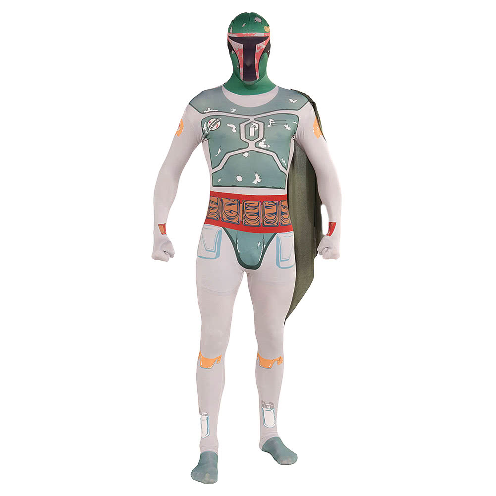 Rubies Second Skin Star Wars Boba Fett Jumpsuit (Multicoloured)