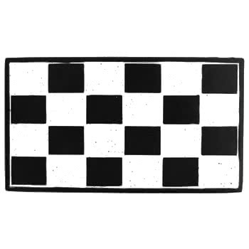 Checker Belt Buckle (Black/White)