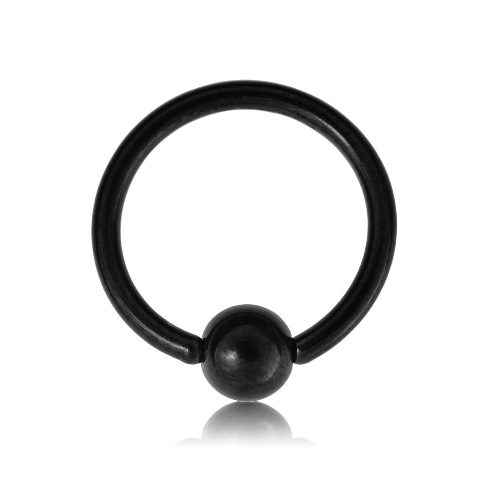 Blue Banana Body Piercing BCR en Acero PVD de 1.2mm BCR - Negro