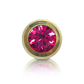 Blue Banana Plasma Gold 5mm Jewelled Ball (Fuchsia)