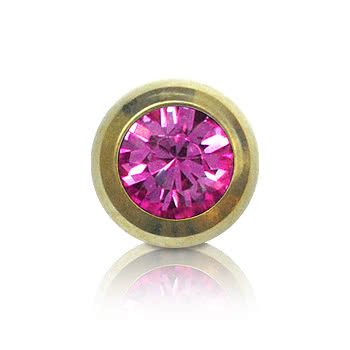 Blue Banana Plasma Gold 5mm Jewelled Ball (Rose)