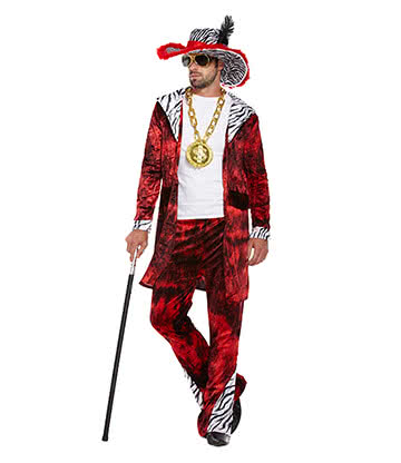 Costume Fancy Dress Big Daddy (Rosso)