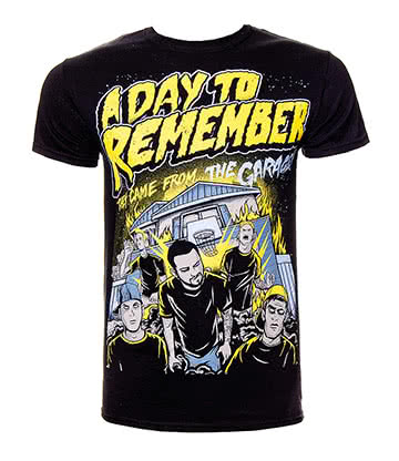 Official A Day To Remember Garage T Shirt (Black)