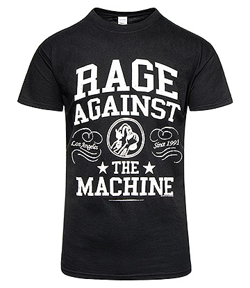 Official Rage Against The Machine Crown College T Shirt (Black/White)