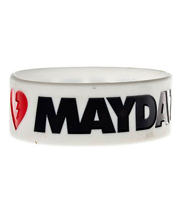 Official Mayday Parade Wristband (White)