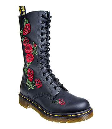 Dr Martens 1914 Vonda Boots (Black/Red)