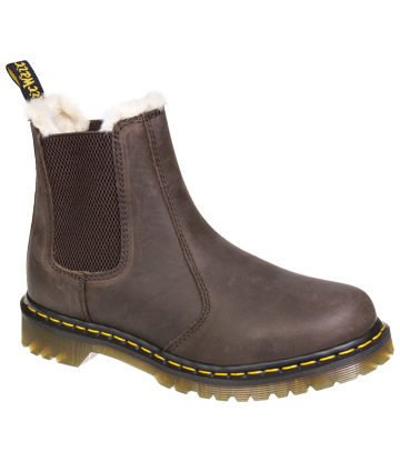 Dr Martens Leonore Chelsea Boots (Brown/Cream)