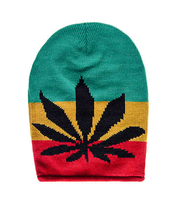 Blue Banana Rasta Leaf Beanie (Multicoloured)