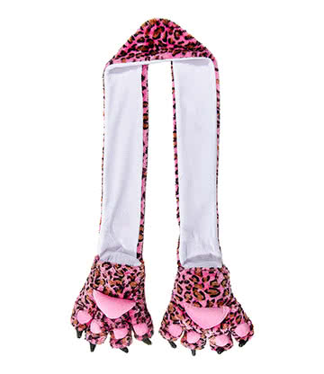 Blue Banana Leopard Scarf (Pink)