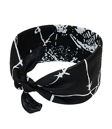 Blue Banana Skull Wire Bandana (Black)