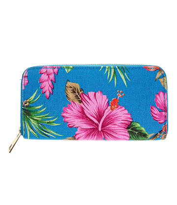 Blue Banana Flower Purse (Blue)