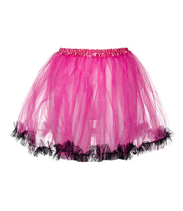Blue Banana Tutu - Jupon Court En Tulle (Rose/Noir)