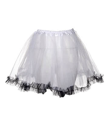 Blue Banana Trimmed Tutu (White/Black)