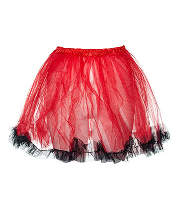 Blue Banana Tutu - Jupon Court En Tulle (Rouge/Noir)
