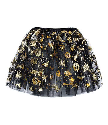 Blue Banana Witches Tutu (Black/Orange)