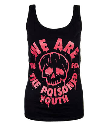Official Fall Out Boy Poisoned Youth Vest (Black/Red)