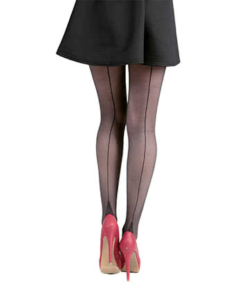 Pamela Mann Jive Seamed Collants Sexy Années 50 Grande Taille UK 16-18 - Taille Unique