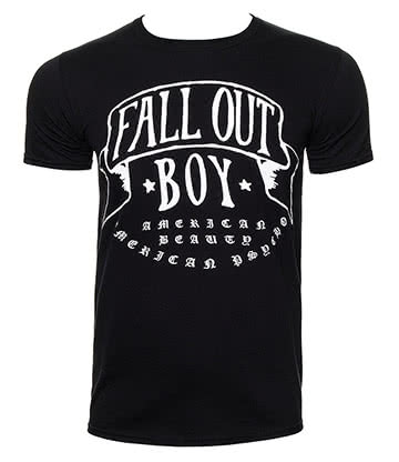 Official Fall Out Boy American Beauty T Shirt (Black)