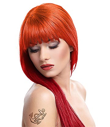 Splat Ombre Fire Long Lasting Semi-Permanent Hair Dye Kit 86ml (Red Ignite/Hot Ember)