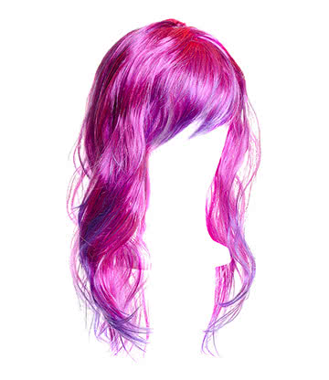 Blue Banana Long Layered Wig (Pink/Purple)