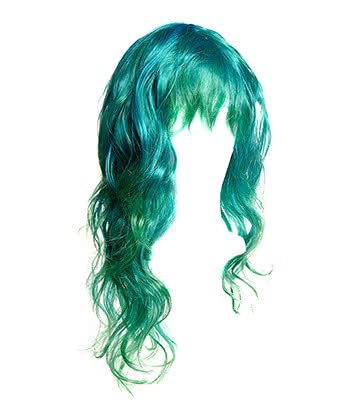 Blue Banana Long Layered Wig (Blue/Green)