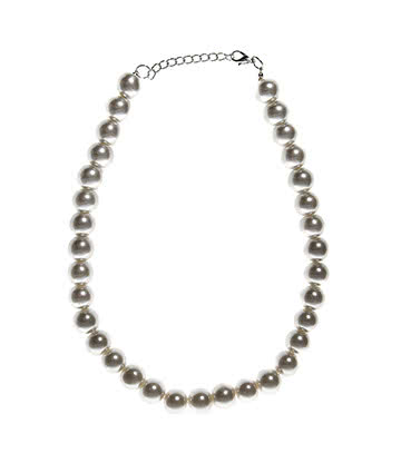 Blue Banana One Size Pearl Necklace (White)