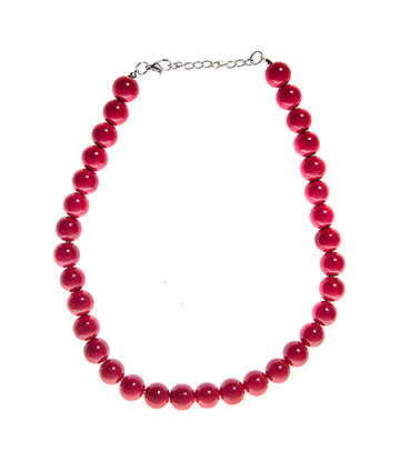 Blue Banana One Size Pearls Necklace (Pink)