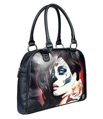 Sullen Angels Muerta Rose Bowling Bag (Black)