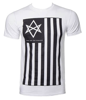 Official Bring Me The Horizon Antivist T Shirt (White)