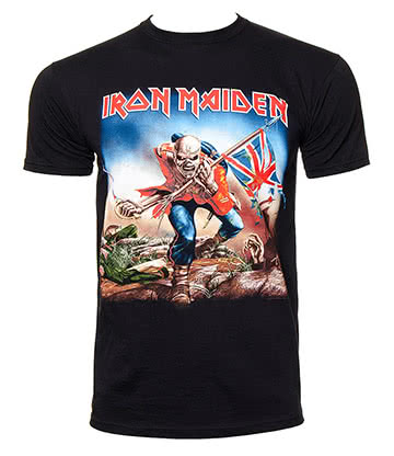 Official Iron Maiden Trooper T Shirt (Black)