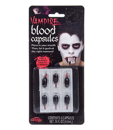 Blue Banana Fake Blood Capsules (6 Pack)