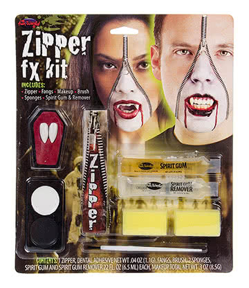 Blue Banana Zipper Vampire Face Paint Kit