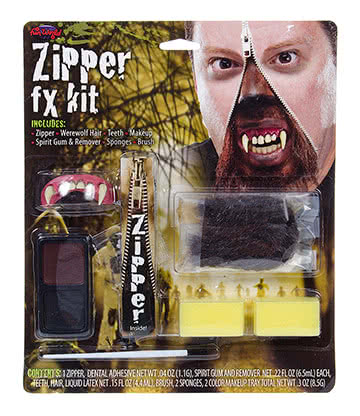 Blue Banana Zipper Werewolf Face Paint Kit