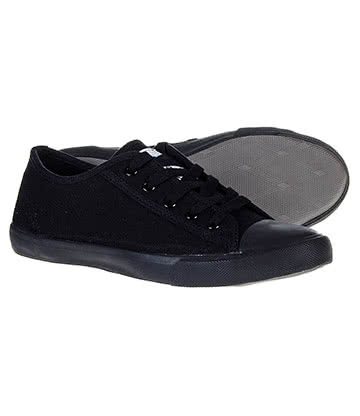 Bleeding Heart Grace Canvas Shoes (Black)