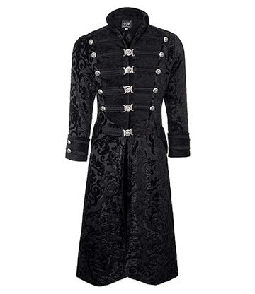Shrine of Hollywood Dominion Velvet Coat (Black)