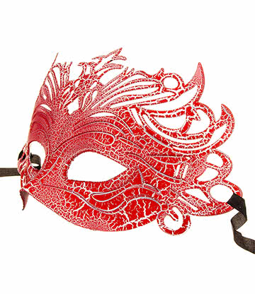 Blue Banana Venetian Mask (Red)