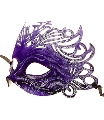 Blue Banana Venetian Mask (Purple)