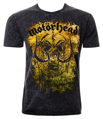 Official Motörhead Acid Splatter Premium T Shirt (Grey)