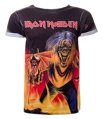 Official Iron Maiden Number Of The Beast Premium T Shirt (Multi Coloured)