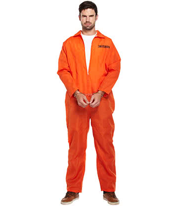 Blue Banana Prisoner Fancy Dress Costume (Orange)