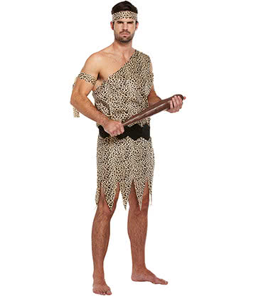 Caveman Adult Fancy Dress Costume (Brown)