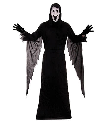 Blue Banana Demon Ghost Fancy Dress Costume (Black)