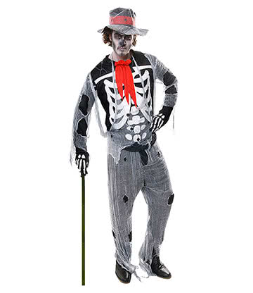 Voodoo Man Fancy Dress Costume (Grey)