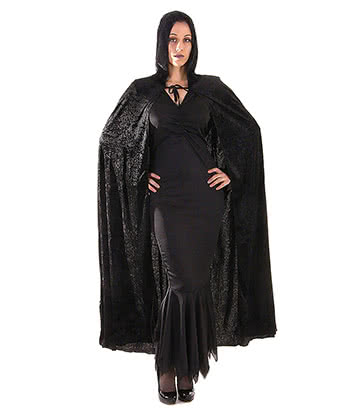 Blue Banana Fancy Dress Velvet Devil Cape (Black)